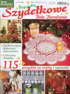 Crochet for Xmas - Szydełkowe Boże Narodzenie - Małgorzata - Picasa Web Albums Crochet Tree, Diy Crochet, Crochet Doilies, Crochet Chart, Filet Crochet, Crochet Patterns, Crochet Book Cover, Crochet Books, Knitting Magazine
