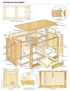 Tool Cabinet  Plans - Workshop Solutions