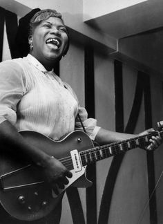 Sister Rosetta Tharpe, guitar prodigy and major influence on rock n' roll.
