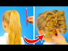 12 CUTE HAIRSTYLES TO BE READY IN ONE MINUTE - YouTube