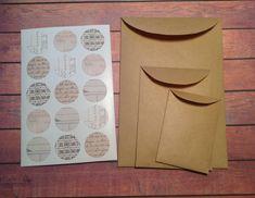 kraft paper envelopes, set of 15, envelopes seals, snail mail, handmade envelopes, packaging by PinkyPromiseBargains on Etsy