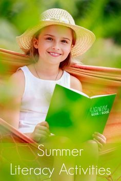 Summer literacy activities that will keep reading and writing skills fresh over the summer break from Growing Book by Book.
