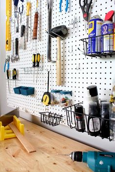 Get serious about organizing your tool selection with a pegboard organizer!