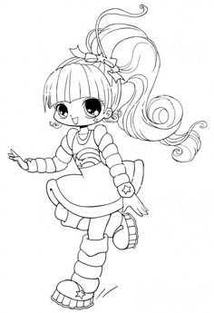 chibi coloring pages | Cute Anime Coloring Pages