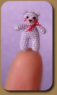 Mariella Vitale, Muffa House, IGMA fellow - hand crocheted micro teddy