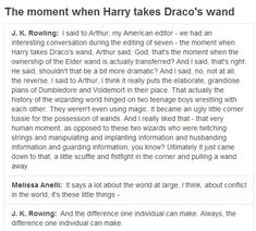 J. K. Rowling, ladies and gentlemen. No one will ever convince me that Harry Potter is just a children's book.