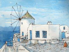 Santorini , Greece,