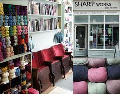 Lovely yarn shop in Brixton