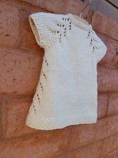 Little Knit Dress Pattern. Newborn to 10 years