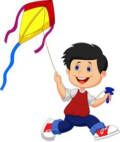 Illustration about Illustration of Cartoon boy playing kite. Illustration of little, activity, illustration - 33242910 Picture Story For Kids, School Board Decoration, Fairy Templates, Clown Crafts, Kites Craft, Action Cards, Cartoon Boy, Boys Playing, Parks And Recreation