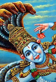 Kerala Mural Painting, Tanjore Painting, Krishna Painting, Bal Krishna, Krishna Statue, Krishna Art, Dance Paintings, Indian Art Paintings, Hindu Symbols