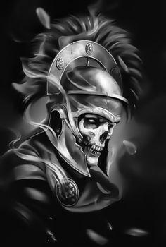 Skull Tattoo Design, Skull Tattoos, Body Art Tattoos, Sleeve Tattoos, Cool Tattoos, Tattoo Designs, Tattoo Sketches, Tattoo Drawings, Gladiator Tattoo