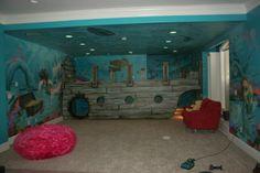 Artistic Murals: Sunken Ship / Pirate/ Underwater Mural