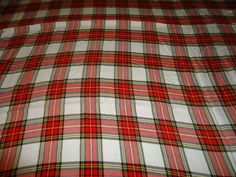 """Vintage 100% Light Weight Cotton Scrap Fabric/Material. 100"""" X 52"""" #Unbranded"""