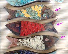 Raku Fisch - Wandschmuck aus Keramik