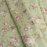 Floral Rose cotton Poplin print Fabric Vintage style dusky pink and sage green - by the metre - UK SELLER Green Fabric, Floral Fabric, Floral Print Design, Floral Prints, Trend Fabrics, Green Pattern, Fabric Swatches, Vintage Fashion, Vintage Style