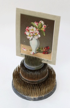 vintage flower frog for photo display