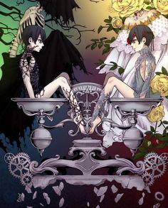 Black Butler Sebastian, Black Butler Ciel, Black Butler Kuroshitsuji, Anime Love, Anime Guys, Manga Anime, Anime Art, Sasunaru, Alice Mare