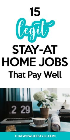 Are you looking for some legit home based jobs opportunities? Check these 15 stay at home jobs that pay well that you can start today to make extra money on the side. These are online jobs for moms, for teens, for college students and for men. Online Jobs For Moms, Get Money Online, Easy Online Jobs, Earn Money From Home, Stay At Home, How To Get Money, Online Income, Home Based Work, Legit Work From Home
