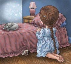 rezando antes de dormir fofo