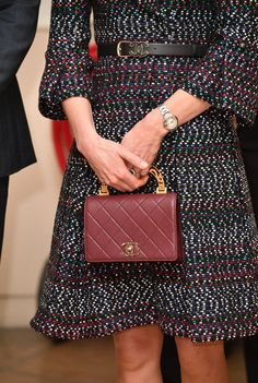Kate Middleton Photos Photos - Catherine, Duchess of Cambridge, handbag detail, visits Les Invalides military hospital during an official two-day visit to Paris on March 18, 2017 in Paris, France. - The Duke And Duchess Of Cambridge Visit Paris: Day Two