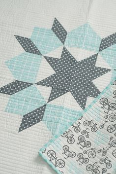Swoon- one block baby quilt? LOVE these colours