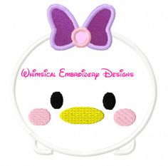 Daisy Duck Tsum TsumMachine Embroidery Applique Design INSTANT DOWNLOAD