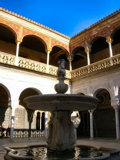 Courtyard, Casa de Pilatos:  Sevilla, Spain.  Courtyard of the 16th century residence of the Dukes of Medinaceli.  The family still lives there.