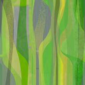 Midcentury Plateau in lime - vertical custom fabric by wren_leyland for sale on Spoonflower Landscape Fabric, Abstract Landscape, Wren, Custom Fabric, Creative Business, Spoonflower, Digital Prints, Craft Projects, Lime