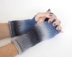 Your place to buy and sell all things handmade Wrist Warmers, Hand Warmers, Fingerless Gloves Knitted, Donate To Charity, Knitting Designs, Hand Knitting, Wool, Etsy, Fashion