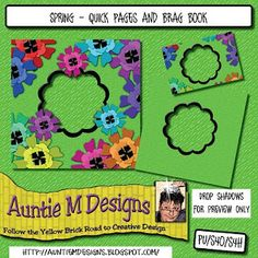 Auntie M Designs: Flowers quick page