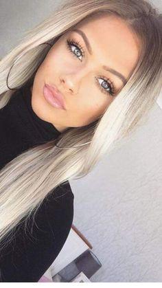 hair hair makeup Makeup Tips for Medium Skin Beauté Blonde, Brown Blonde Hair, Dark Hair, Blonde Makeup, Platinum Blonde, Blonde Hair And Green Eyes, Skin Makeup, Blonde Hair Eyebrows, Brown Eyes Hair Color