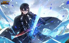 Arte Online, Kunst Online, Online Art, Kirito Kirigaya, Kirito Asuna, Kirito Sword, Sword Art Online Kirito, Manga Anime, Sword Art Online Wallpaper