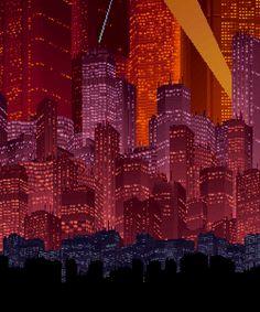 Like layers of skin Cyberpunk City, Arte Cyberpunk, Favelas Brazil, 8 Bit Art, Pix Art, New Retro Wave, Anime City, Aesthetic Gif, Future City