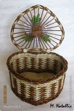 Advantages Of Buying A Good Wicker Outdoor Sofa Set - Wicker Decor - White Wicker Furniture, Paper Furniture, Newspaper Basket, Newspaper Crafts, Pine Needle Crafts, Cane Baskets, Paper Weaving, Wooden Gift Boxes, Vintage Baskets