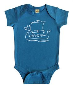 Look at this #zulilyfind! Turquoise Viking Ship Bodysuit - Infant by Rocket Bug #zulilyfinds