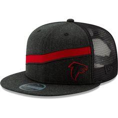 6cc3316b56a Men s New Era Heathered Black Atlanta Falcons Label Scale Trucker 9FIFTY  Adjustable Snapback Hat Atlanta Falcons