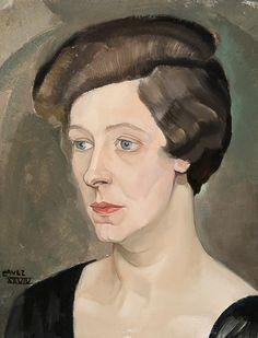 Léon Navez (Mons 1900 - Auderghem 1967) - Portrait of a woman (1929) - Peintre du groupe Nervia, il trouve son inspiration dans la figure humaine surtout, et chez la femme en particulier.