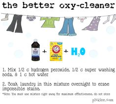 "DIY cleaning solutions, including miracle stain remover, oven cleaner, shower cleaner, ""better oxy cleaner,"" wrinkle release spray, ink stain remover, carpet stain remover, dishwasher cleaner, and armpit stain remover!"