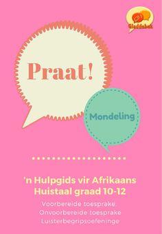Mondeling - 'n Hulpgids vir Afrikaans Huistaal Graad - Teacha! Afrikaans, Hoe, Languages, Weapon, Teacher, Chart, Education, Idioms, Professor