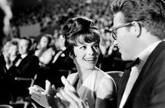 Natalie Wood smiles beside her date for the 1962 Oscars, Warren Beatty, inside the Santa Monica Civic Auditorium. Photo by Allan Grant Life Magazine Time & Life Pictures/Getty Images Natalie Wood, George Chakiris, Rita Moreno, Warren Beatty, Splendour In The Grass, West Side Story, Best Supporting Actor, Vintage Hollywood, Hollywood Icons