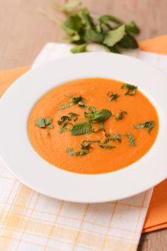 soupe carottes orange menthe