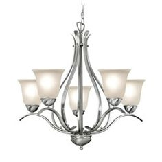 Shop for Woodbridge Lighting Beaconsfield 5-light Satin Nickel Chandelier. Get free shipping at Overstock.com - Your Online Home Decor Outlet Store! Get 5% in rewards with Club O!