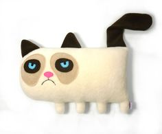 Hey, I found this really awesome Etsy listing at https://www.etsy.com/listing/129094559/grumpy-cat-handmade-plush-animal