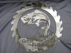 Gone Fishing Steel Saw Blade Wall Sign. $35.00, via Etsy.
