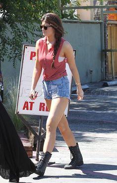 Kourtney Kardashian malibu Kylie Jenner Kendall  Jenner shorts boots kardashian skirt
