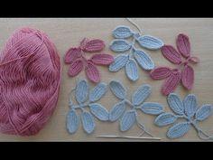Мастер-класс по вязанию веточек с листочками крючком. How to crochet pattern вranch with leaves - YouTube