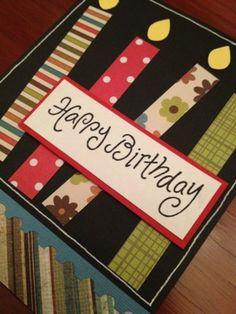 Happy Birthday Candles Card Kit made with Cricut Stampin Up and other products | eBay