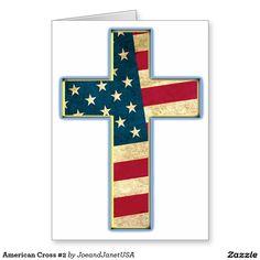 American Cross #2 Greeting Card