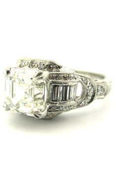 diamond ring with a touch of masculinity